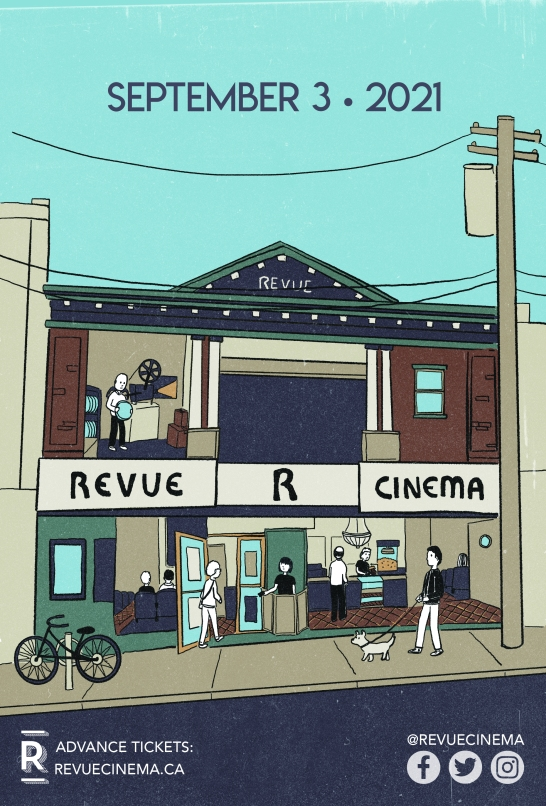 Poster for the reopening of the revue cinema